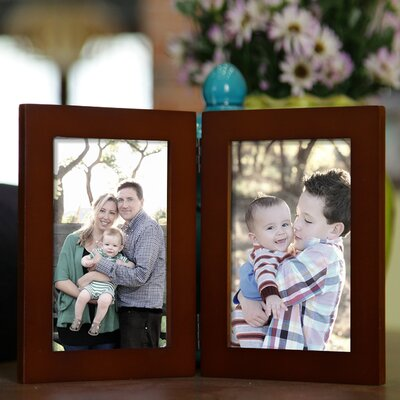 2 Opening Decorative Table Top Picture Frame Color: Walnut