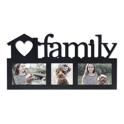 3 Opening Decorative Family Wall Hanging Picture Frame