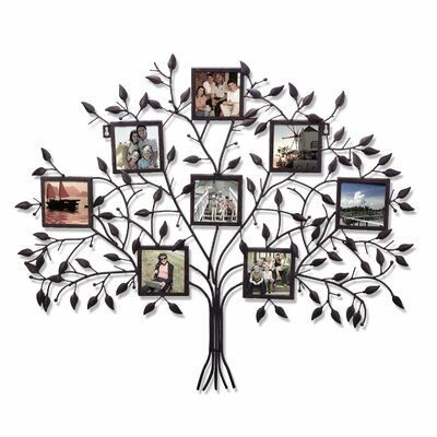 8 Opening Decorative Family Tree Wall Hanging Collage Picture Frame