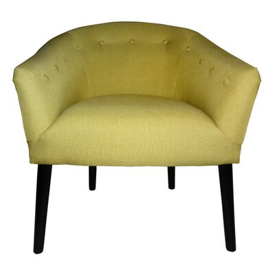 Fabric Barrel Chair Upholstery: Yellow