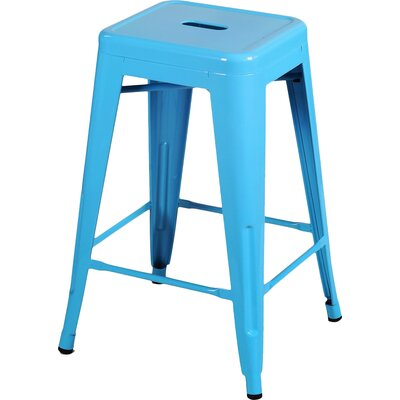 Delaware Tolix 24 Bar Stool Color: Light Blue