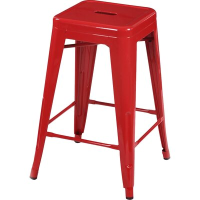 Delaware Tolix 24 Bar Stool Color: Red