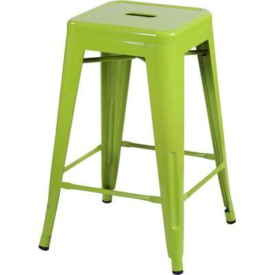 Delaware Tolix 24 Bar Stool Color: Green