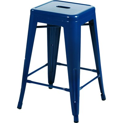 Delaware Tolix 24 Bar Stool Color: Dark Blue