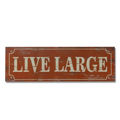 Live Large Wall Décor