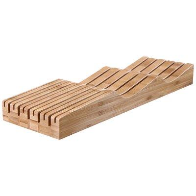100% Natural Bamboo Counter Top Knife Block Kitchen Safety Storage KA0006