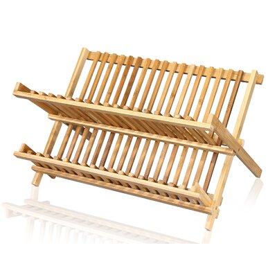 100% Natural Bamboo Expandable Two Level Kitchen Dish / Lid Rack