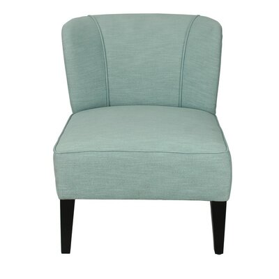 Deluex Slipper Chair Upholstery: Blue