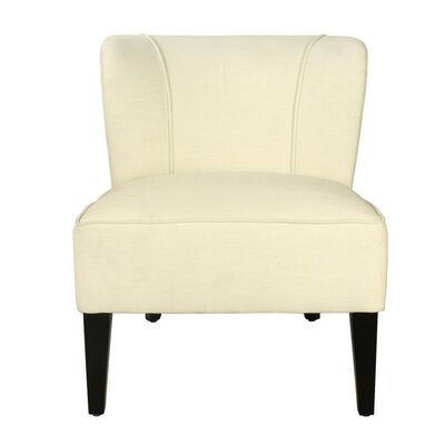 Deluex Slipper Chair Upholstery: White