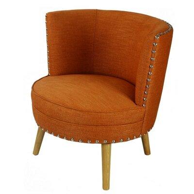 Round Leisure Barrel Chair Upholstery: Orange