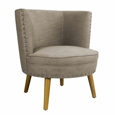 Round Leisure Barrel Chair Color: Gray