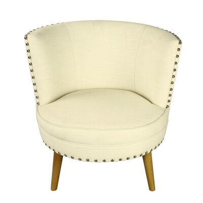 Round Leisure Barrel Chair Upholstery: White