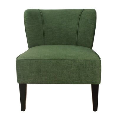 Deluex Slipper Chair Upholstery: Green