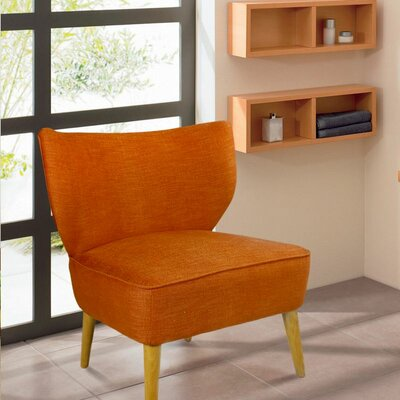 Leisure Slipper Chair Color: Orange