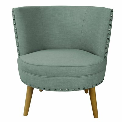 Round Leisure Barrel Chair Color: Blue