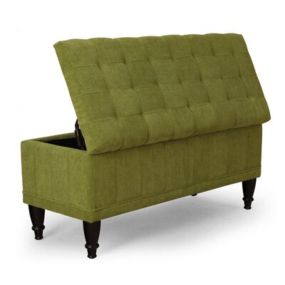 Rectangular Storage Ottoman Color: Green