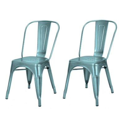 Donis Side Chair Finish: Crystal Blue