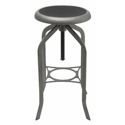 Adjustable Height Swivel Bar Stool Finish: Cosmic Grey Metal Rim