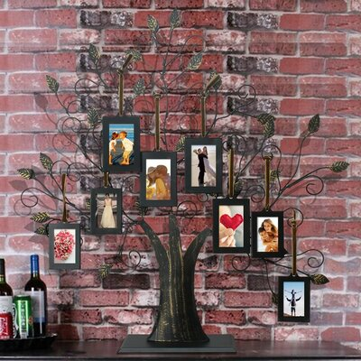 8 Opening Decorative Iron Tree Table Top Collage Picture Frame