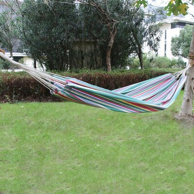 Cotton and Polyester Tree Hammock Color: Green