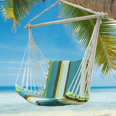 Cotton and Polyester Chair Hammock Color: Blue