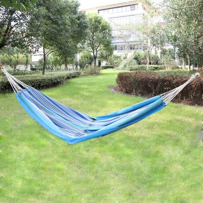 Cotton and Polyester Tree Hammock Color: Blue