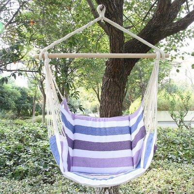 Cotton and Polyester Chair Hammock Color: Purple