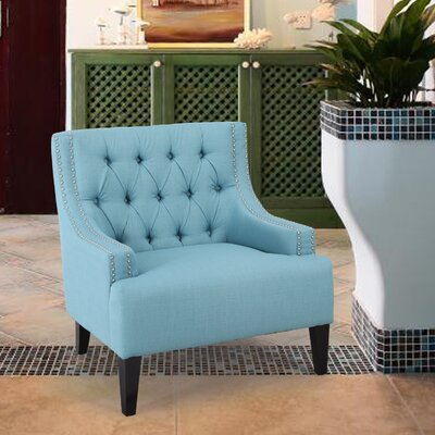 Classic Style Armchair Upholstery: Aqua