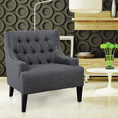 Classic Style Armchair Upholstery: Grey