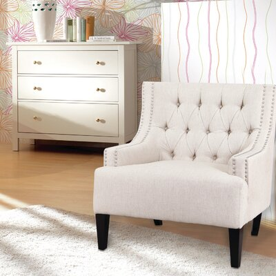 Classic Style Armchair Upholstery: White