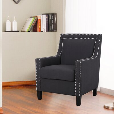 Classic Style Armchair Upholstery: Black