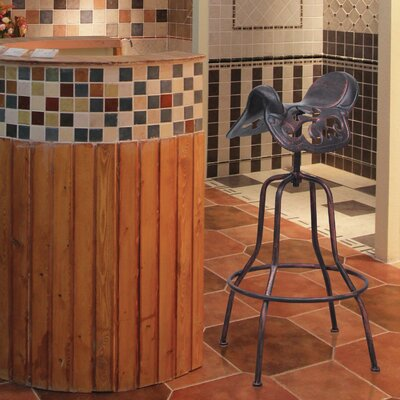 Adjustable Height Bar Stool Finish: Bronze