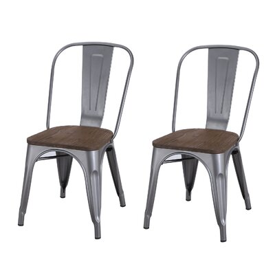 Dining Chair Finish: Metal Gray