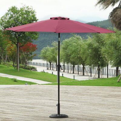 9 Market Umbrella Fabric: Wine Red