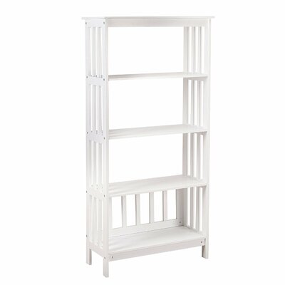 AdecoTrading Etagere Bookcase Color: Ivory White
