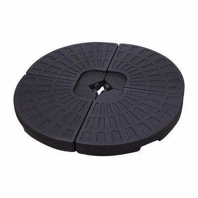 4 Piece Plastic Umbrella Base Set Color: Black