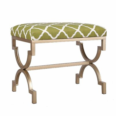 Modern Style Fabric Bench Ottoman Finish: Green