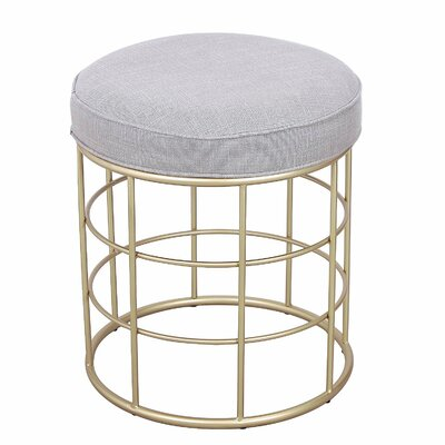 Metal Nesting Flax Square Shape Ottoman Finish: Gray