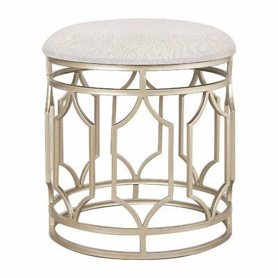 Metal Nesting Flax Diamond Shape Ottoman Finish: Nude