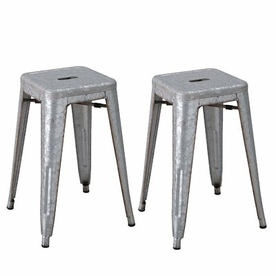 24 Bar Stool Upholstery: Iron