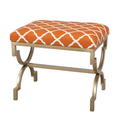 The Nesting Flax Ottoman Finish: Orange