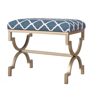 Modern Style Fabric Bench Ottoman Finish: Blue