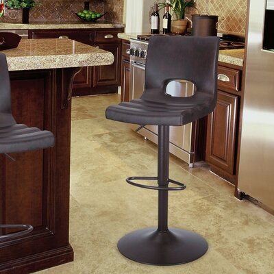 Adjustable Height Bar Stool with Cushion