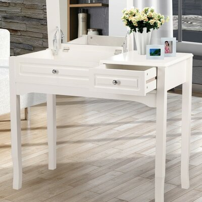 End Table Finish: Ivory White