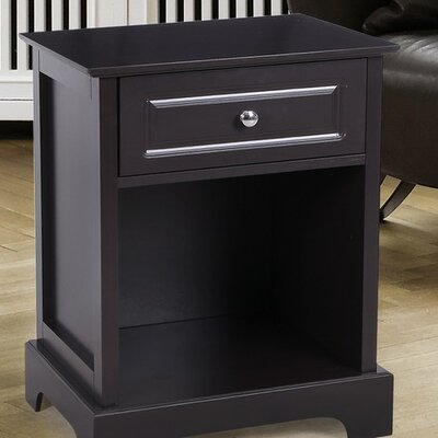 1 Drawer Nightstand Color: Brown
