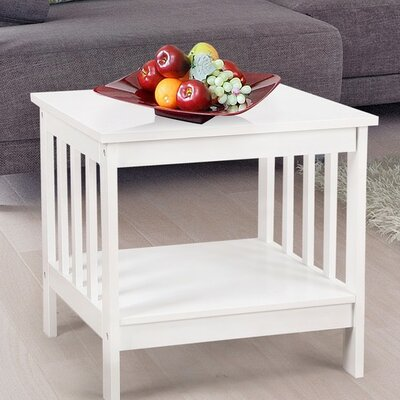 Nightstand Color: Ivory White