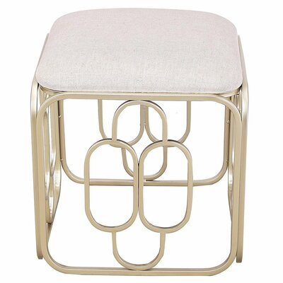 Metal Nesting Flax Oval Shape Ottoman Finish: Nude