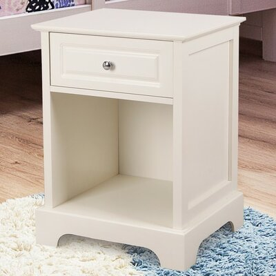 1 Drawer Nightstand Color: Ivory White