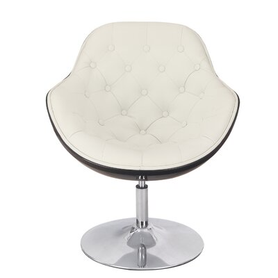 Egg Shaped Leisure Lounge Chair Upholstery: White