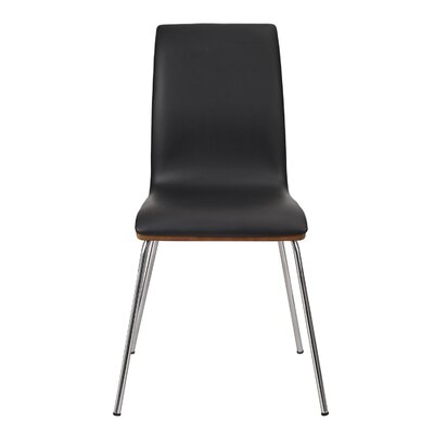 Bentwood Parsons Chair Upholstery: Black